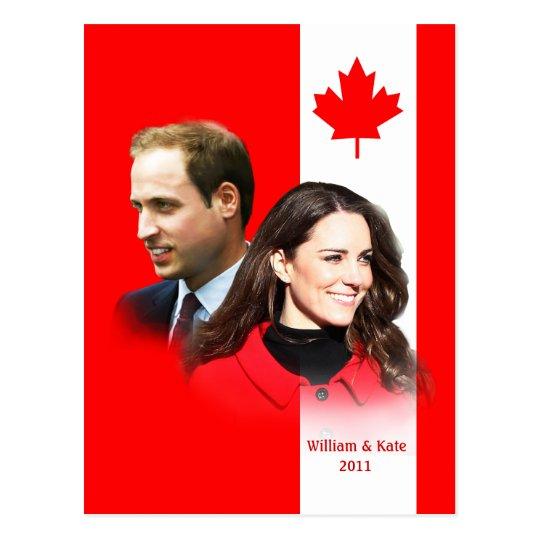 Prince William - Kate Middleton Canada Postcard