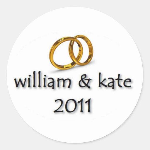 Prince William & Kate's Wedding Round Sticker