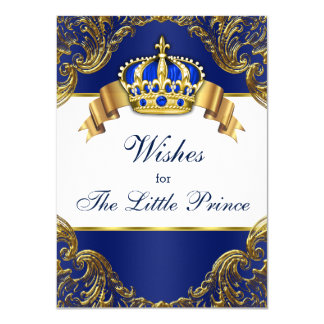 Prince Wishes for Baby 11 Cm X 16 Cm Invitation Card