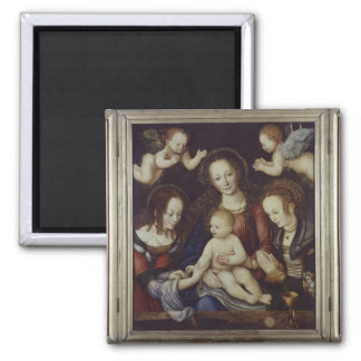 Princely Altarpiece, 1510-12 Square Magnet