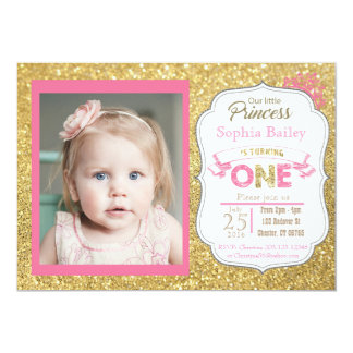 Princes 1st Birthday Girl Invitation