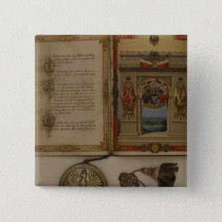 Prince's Diploma investing Otto von Bismarck 15 Cm Square Badge
