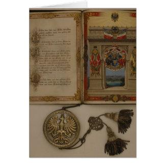 Prince's Diploma investing Otto von Bismarck Card