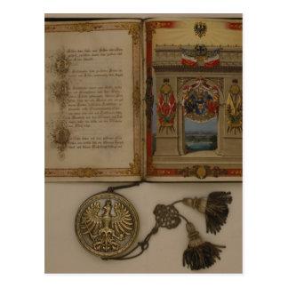 Prince's Diploma investing Otto von Bismarck Postcard