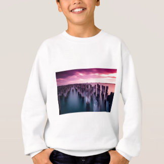 Princes Pier Melbourne Australia Purple Sunset Sweatshirt