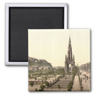 Princes Street, the Castle, and Scott Monument Magnet