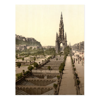 Princes Street, the Castle, and Scott Monument Postcard