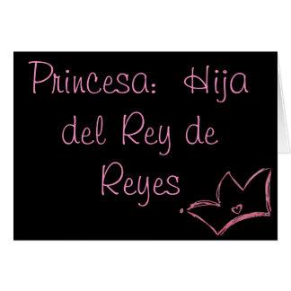 Princesa:  Hija del Rey de Reyes Note Card