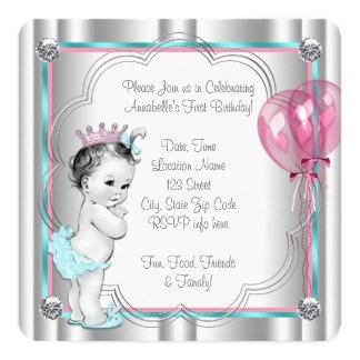 Princess 1st Birthday Party 13 Cm X 13 Cm Square Invitation Card