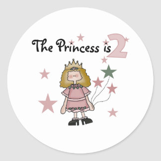Princess 2nd Birthday Classic Round Sticker