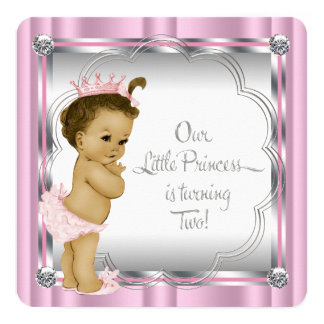 Princess 2nd Birthday Party Card