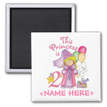 Princess 2nd Birthday Square Magnet
