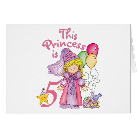 Princess 5th Birthday Invitations