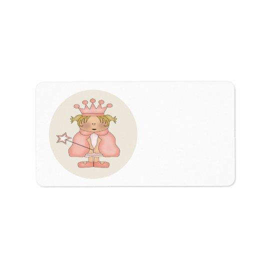 Princess Address Label