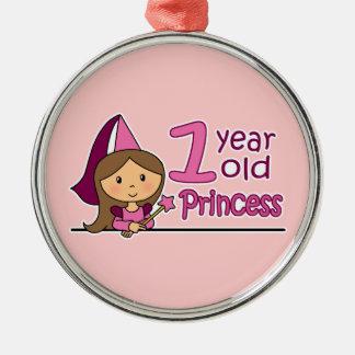 Princess Age 1 Christmas Ornament