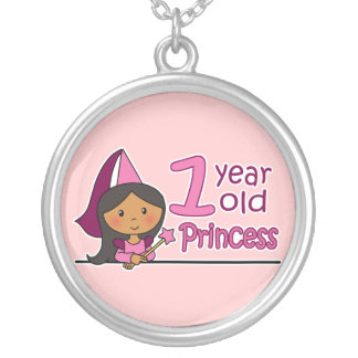 Princess Age 1 Round Pendant Necklace