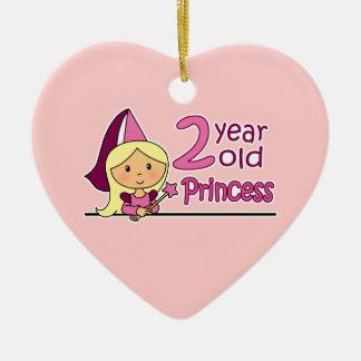 Princess Age 2 Christmas Ornament