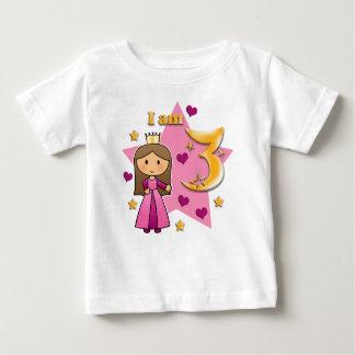 Princess Age 3 Baby T-Shirt