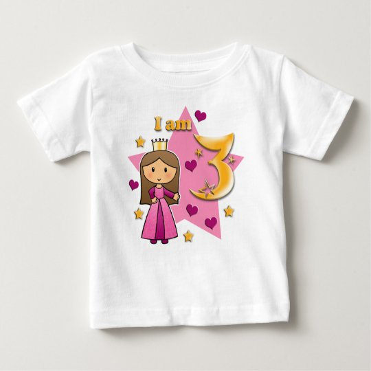 Princess Age 3 Baby T-Shirt