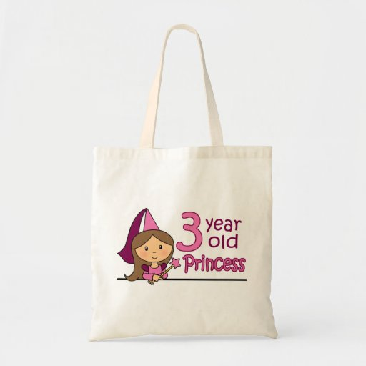 Princess Age 3 Tote Bags