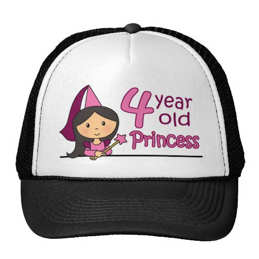 Princess Age 4 Cap
