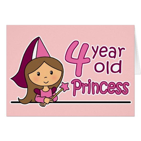 Princess Age 4 Card
