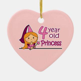 Princess Age 4 Christmas Ornament