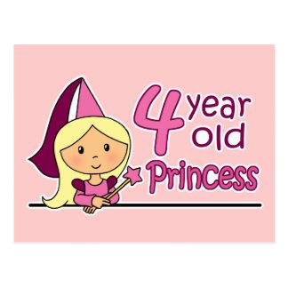 Princess Age 4 Postcard