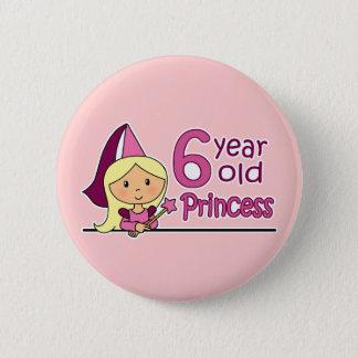 Princess Age 6 6 Cm Round Badge