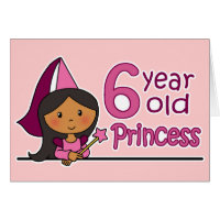 6 year old birthday cards invitations zazzle 6 year old birthday cards invitations princess age 6 bookmarktalkfo Image collections