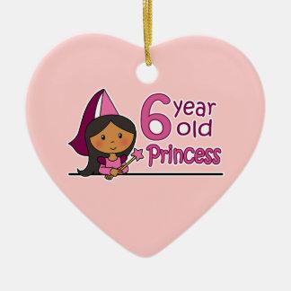 Princess Age 6 Christmas Ornament