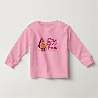 Princess Age 6 Toddler T-Shirt