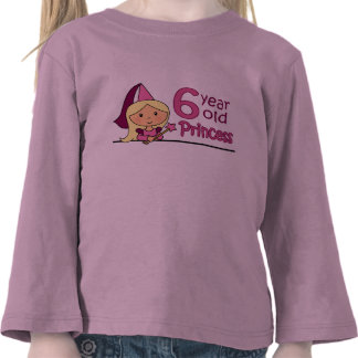 Princess Age 6 Tshirt