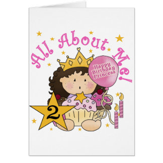 Princess All About Me 2nd Birthday Cards
