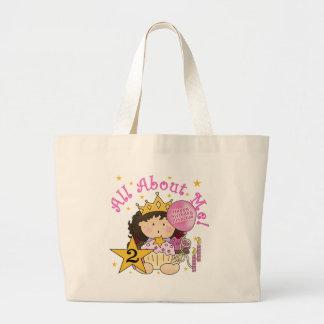 Princess All About Me 2nd Birthday Jumbo Tote Bag