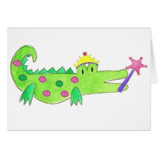 Princess Alligator Greeting Card