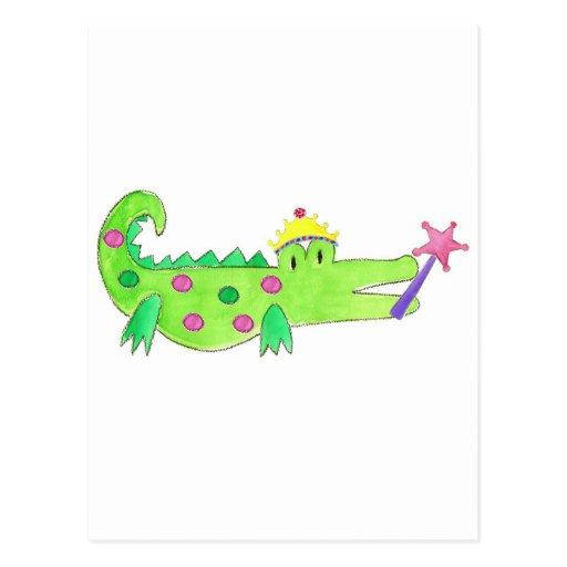 Princess Alligator Post Card