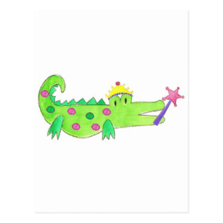 Princess Alligator Postcard