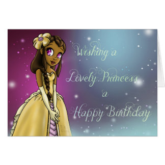 """Princess Amariah Birthday Cards"" Card"