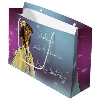 Princess Amariah Birthday Gift Bag - Large, Glossy Large Gift Bag