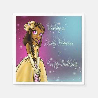 """Princess Amariah Birthday Paper Napkins"" Paper Napkin"