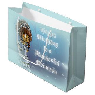 Princess Amelia Birthday Gift Bag - Large, Glossy Large Gift Bag