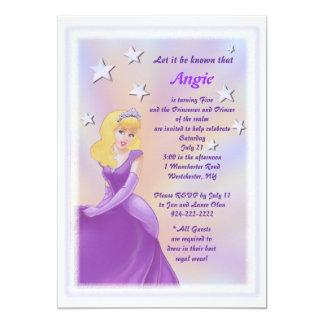 "Princess Among Stars Birthday Invitation for Girls 5"" X 7"" Invitation Card"