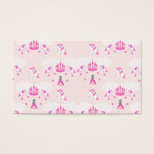 Princess and castle pattern Business Card