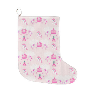 Princess and castle pattern Christmas Stocking