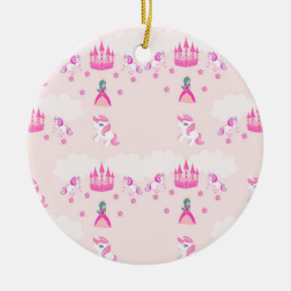 Princess and castle pattern Decoration