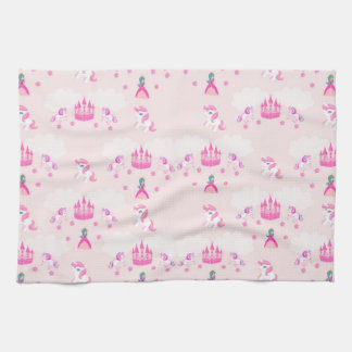 Princess and castle pattern TeaTowels Kitchen Towel
