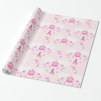 Princess and castle pattern Wrapping Paper