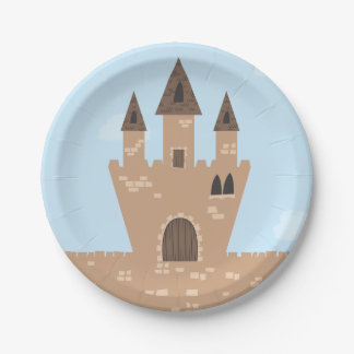 Princess and Enchanted Castle 7 Inch Paper Plate