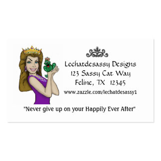 Princess and her frog prince Card Business Card Templates